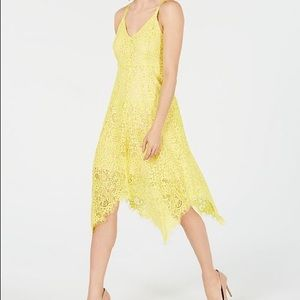 NWT I.N.C. Lace Hanky-Hem Midi Dress